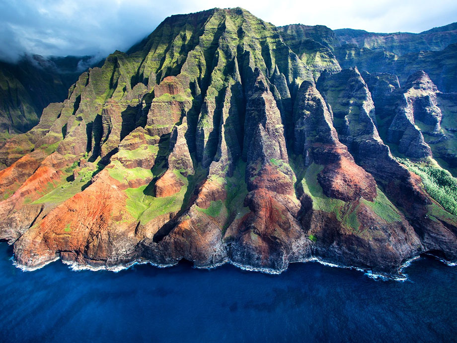 Na Pali, bang Hawaii.